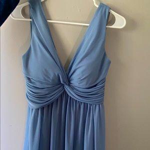 Dusty Blue Birdy Grey Maxi Dress